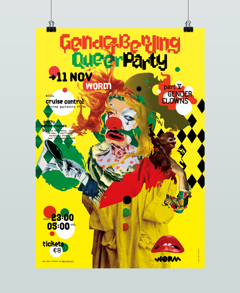 GenderBendingQueerParty Auke Triesschijn graphic design