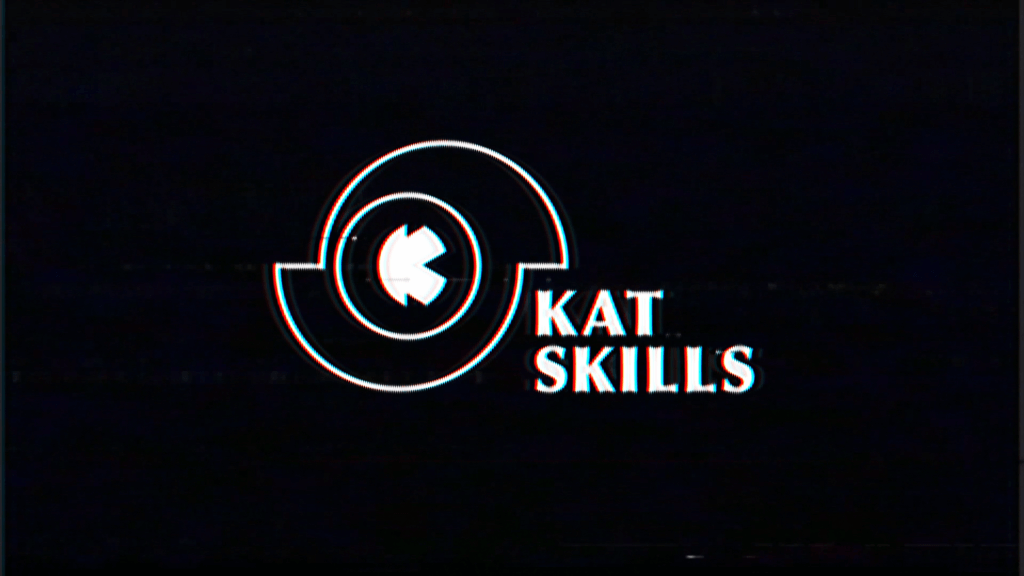 Kat Skills logo VHS graphic design by Auke Triesschijn