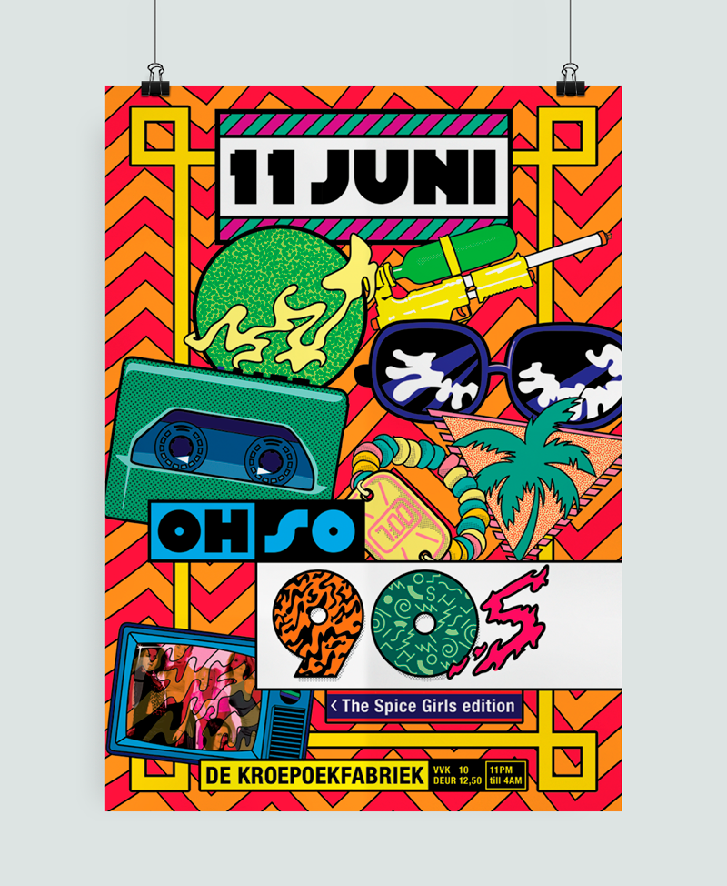 OH SO 90s Poster design by Auke Triesschijn